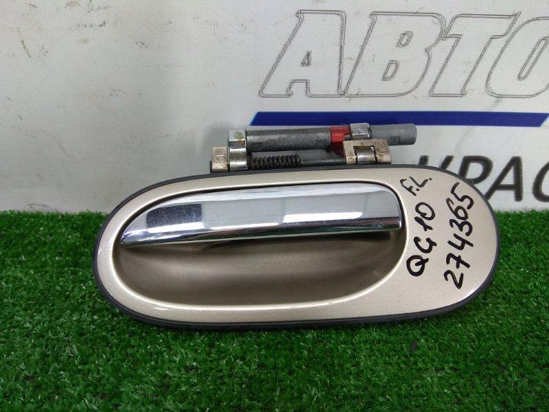 Ручка внешняя Nissan Bluebird Sylphy QG10 QG18DE 2003 передняя левая ХТС, передняя левая, бежевая (EV0),