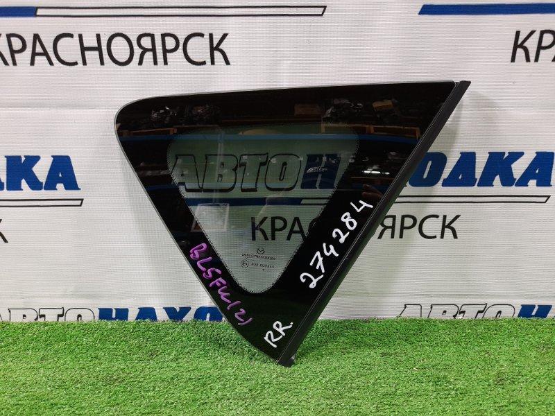 Стекло собачника Mazda Axela BL5FW ZY-VE 2009 заднее правое Правое, заводская тонировка, с