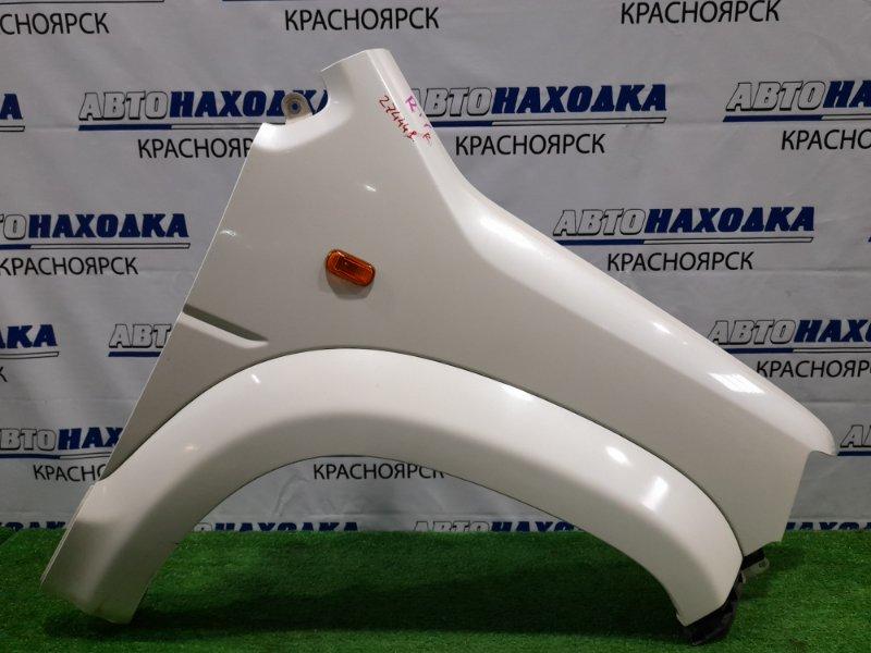Крыло Honda Crossroad RT1 R18A 2007 переднее правое FR, с накладкой (фендером), клипсой, поворотником,