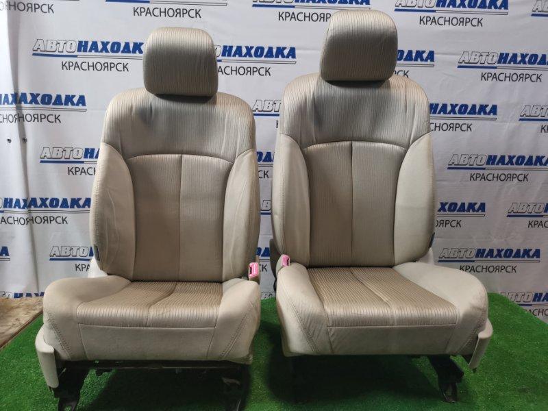 Сиденья Subaru Legacy BR9 EJ25 2009 передняя Передние, пара. ХТС. С электрическими регулировками.