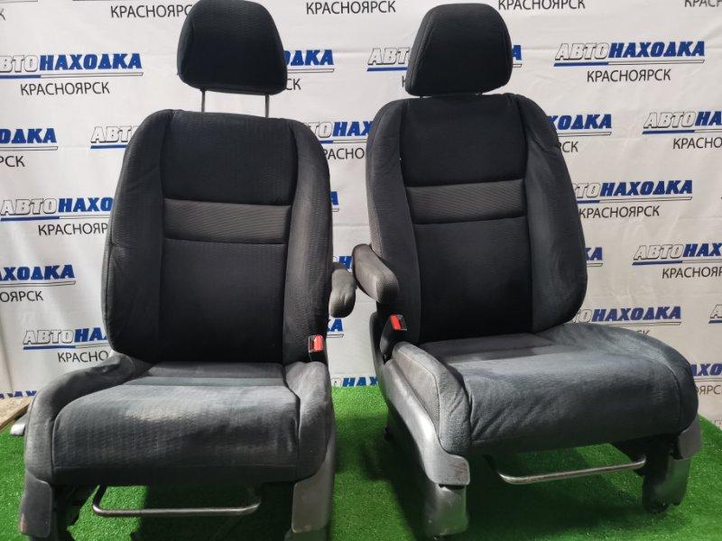 Сиденья Honda Cr-V RE3 K24A 2006 передняя передние, пара,с механическими регулировками, черная