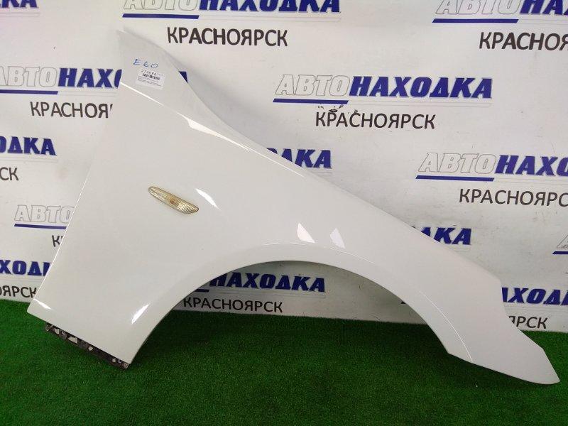 Крыло Bmw 525I E60 N52B25 2003 переднее правое ХТС, переднее правое, белое (300), алюминиевое, с