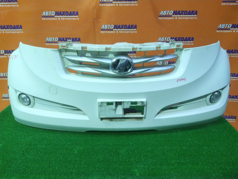 Бампер Toyota Bb QNC21 3SZ-VE 01.2006 передний 52119-B1040 +ТУМАНКИ A044633, +СОНАРЫ,