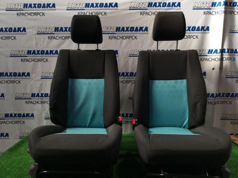 Сиденья Suzuki Splash XB32S K12B 2008 передняя Передние, пара, черная двухкомпонентная ткань,
