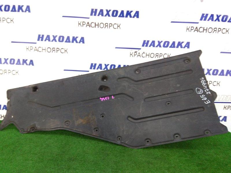 Защита Bmw 735I E65 N62B36 2001 левая защита днища, пластиковая, левая (большая)