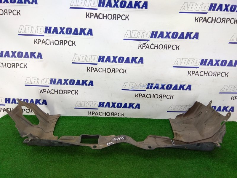 Защита двс Honda Stepwgn RF2 B20B 1996 передняя сплошная, надрыв 4 см.