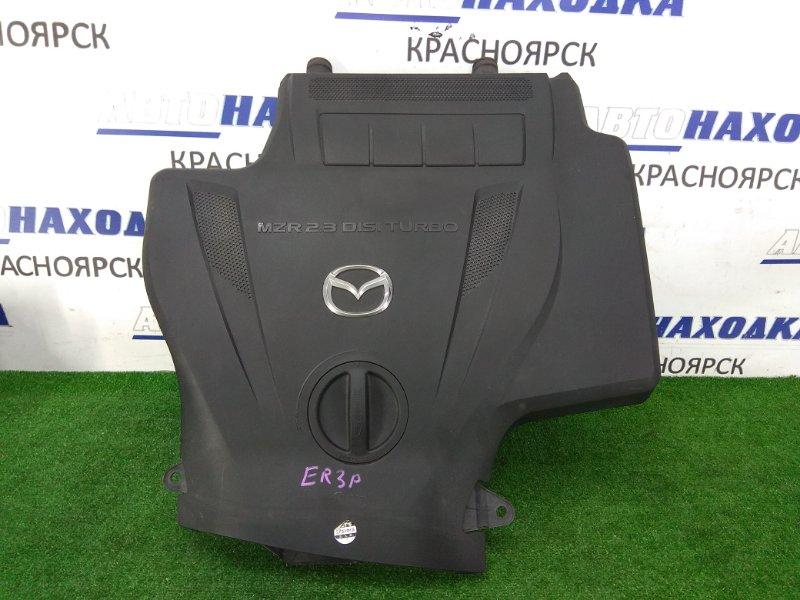 Воздухозаборник Mazda Cx-7 ER3P L3-VDT 2006 дефлектор интеркулера, небольшой дефект хрома на