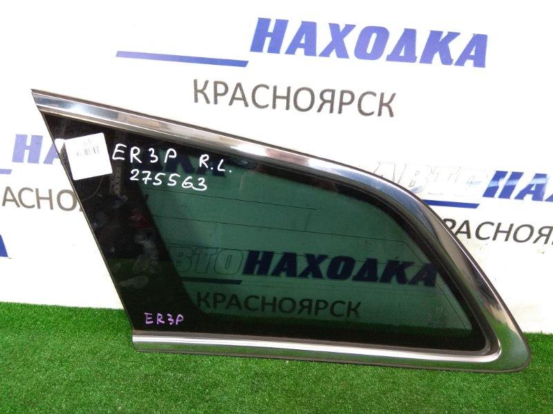 Стекло собачника Mazda Cx-7 ER3P L3-VDT 2006 заднее левое заднее левое, с хром молдингом