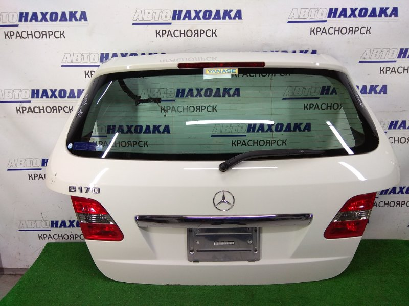 Дверь задняя Mercedes-Benz B170 245.232 266.940 2008 задняя в сборе, белая (650U), метла, небольшая