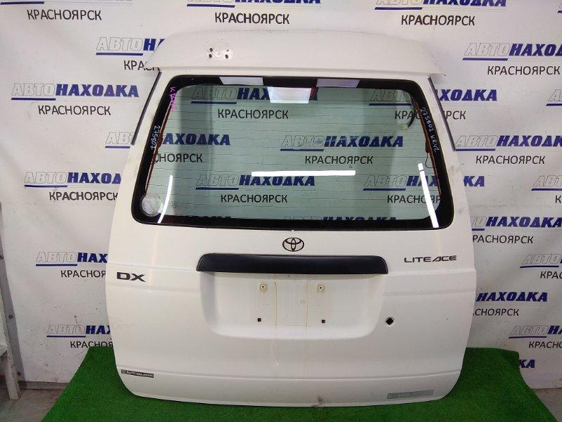 Дверь задняя Toyota Lite Ace KR42V 7K 1996 задняя В сборе , белая (058), высокая крыша,