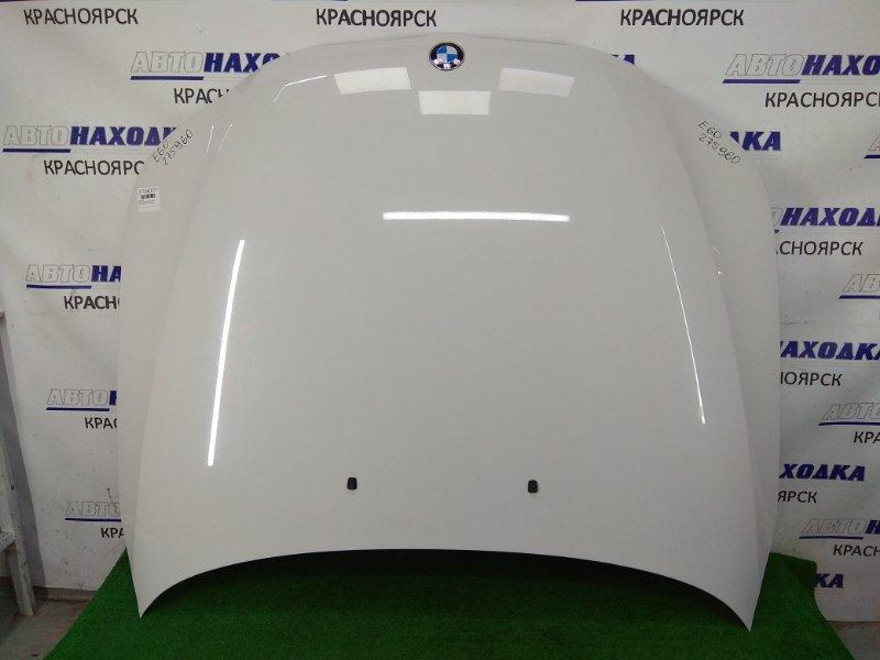 Капот Bmw 525I E60 N52B25 2003 передний ХТС, белый (300), алюминиевый