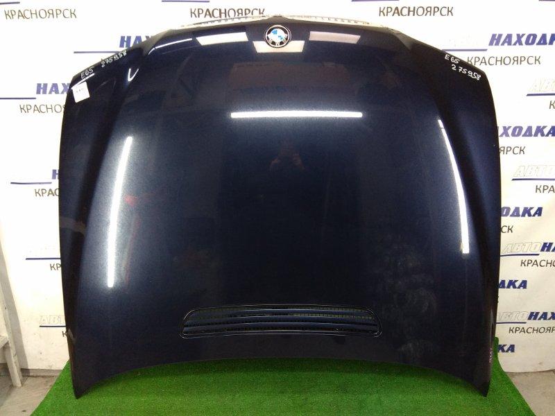 Капот Bmw 735I E65 N62B36 2001 передний ХТС, с решетками, темно-синий (317), 1 мод., алюминиевый