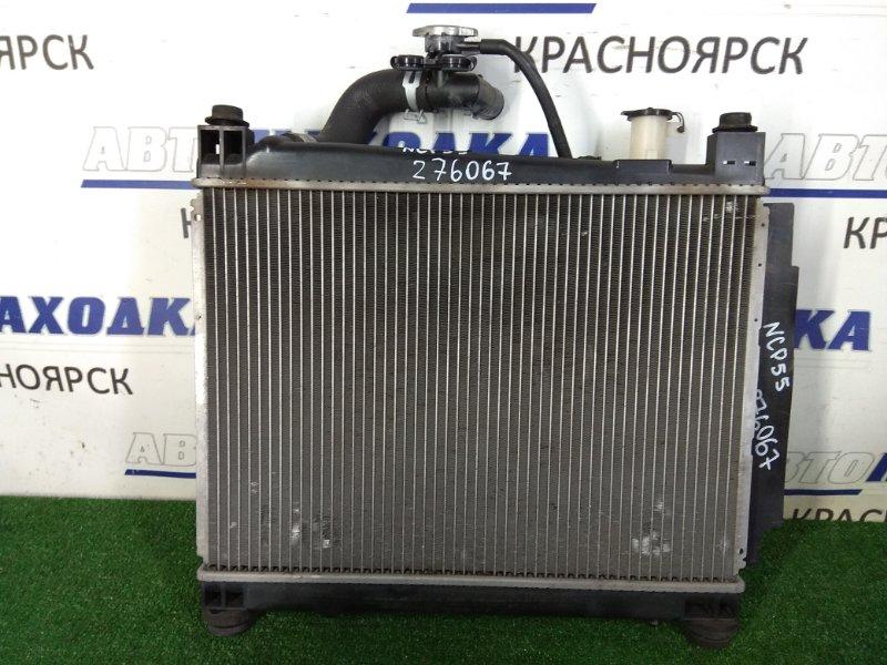 Радиатор двигателя Toyota Succeed NCP55V 1NZ-FE 2002 422132-1981 МКПП, в сборе с диффузором и