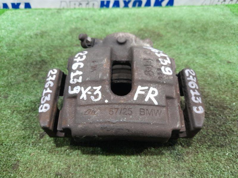 Суппорт Bmw X3 E83 N52B25A 2006 передний правый FR под диск диаметром 325 мм.