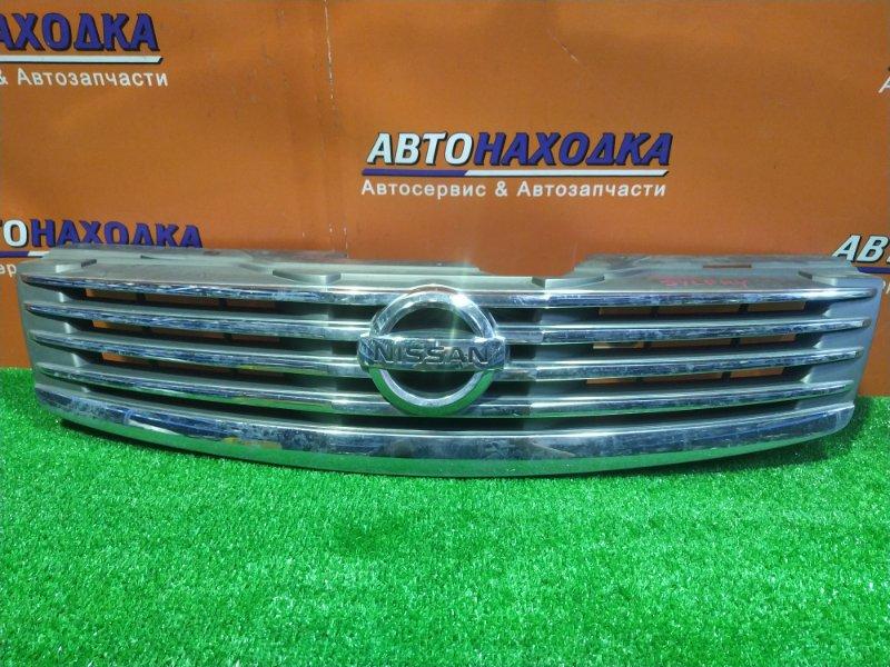 Решетка радиатора Nissan Bluebird Sylphy KG11 MR20DE передняя 62310-EW000 ХРОМ