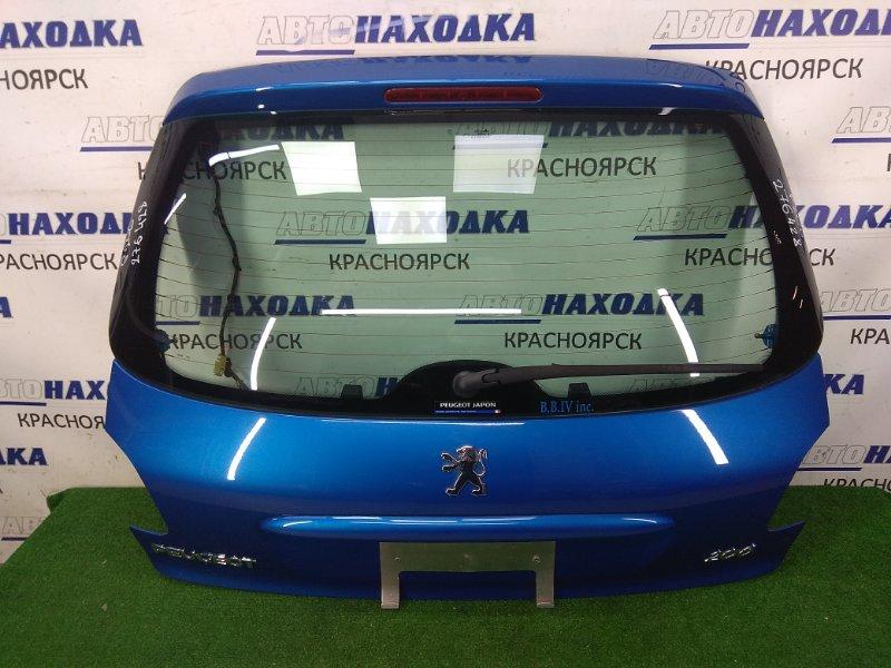 Дверь задняя Peugeot 206 2A/C TU5JP4 2003 задняя в целом ХТС, в сборе, хэтчбек, синяя (KMF), метла,