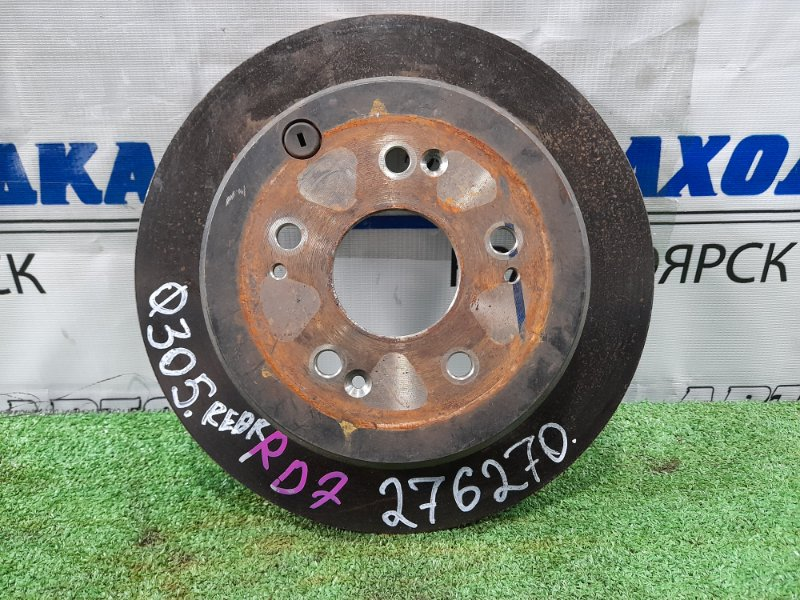 Диск тормозной Honda Cr-V RD7 K24A 2004 задний задний, диаметр 305 мм