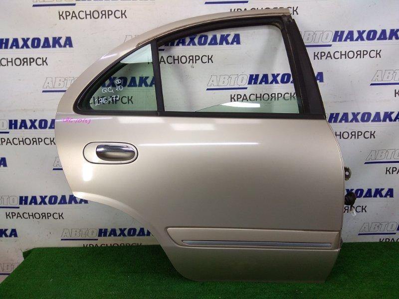 Дверь Nissan Bluebird Sylphy QG10 QG18DE 2003 задняя правая задняя правая, бежевая (EV0), в сборе, с