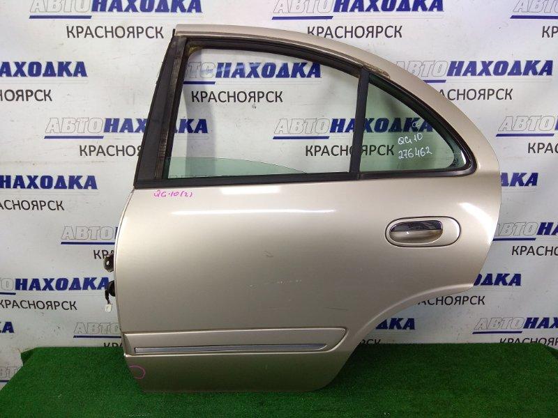 Дверь Nissan Bluebird Sylphy QG10 QG18DE 2003 задняя левая задняя левая, бежевая (EV0), в сборе, с