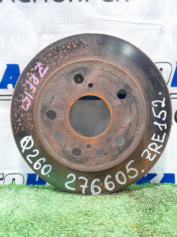 Диск тормозной Toyota Auris ZRE152H 2ZR-FE 2006 задний задний, диаметр 259 мм
