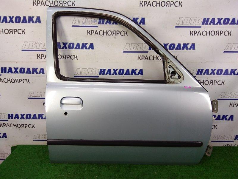 Дверь Nissan March HK11 CG13DE 1997 передняя правая передняя правая, серая (FL0), пятидверка, без