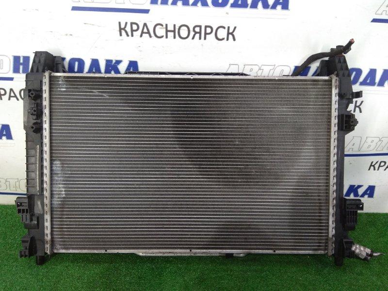 Радиатор двигателя Mercedes-Benz B170 245.232 266.940 2008 A/T в сборе с диффузором, вентилятором и
