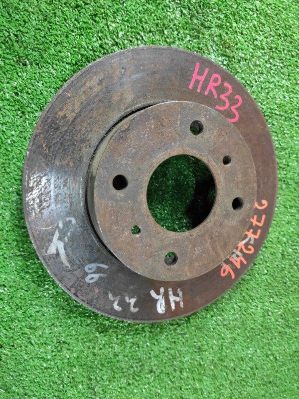 Диск тормозной Nissan Skyline HR33 RB20DE передний Ф258, T22, CD68, H49, 4 ШПИЛЬКИ,