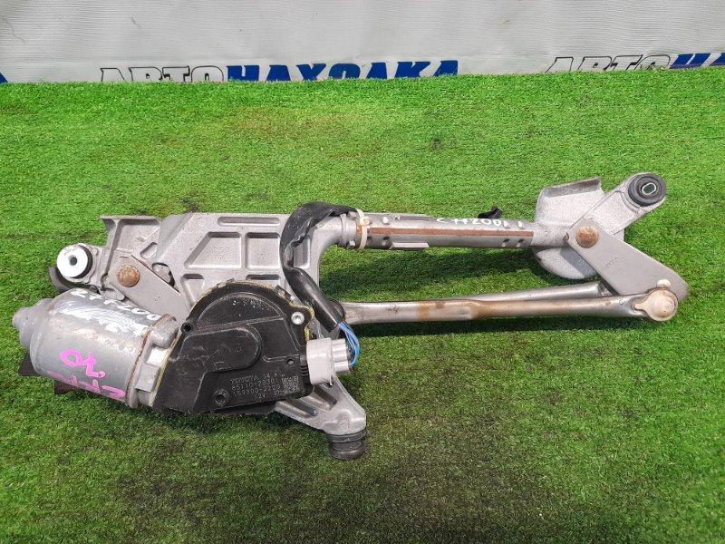 Мотор дворников Toyota Voxy ZRR70G 3ZR-FE 2007 передний 159300-2220 передний, в сборе с трапецией.