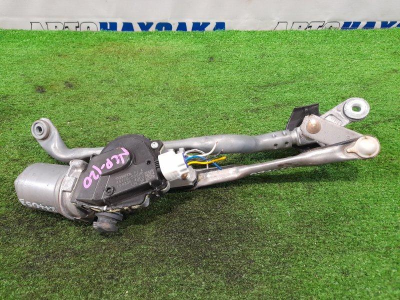 Мотор дворников Toyota Ractis NCP120 1NZ-FE 2010 передний передний, в сборе с трапецией, ХТС.