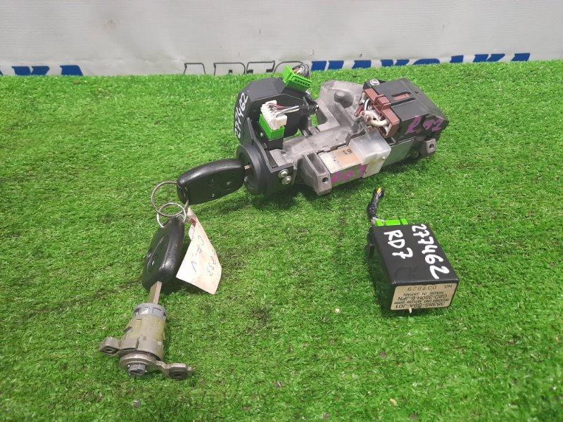 Замок зажигания Honda Cr-V RD7 K24A 2004 с 2 ключами, личинкой, блоком управления KEYLESS ENTRY