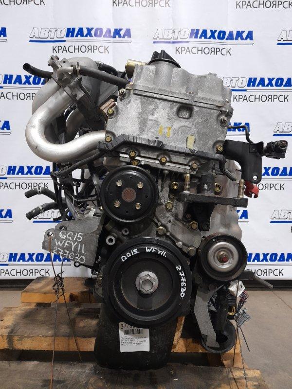 Двигатель Nissan Wingroad WFY11 QG15DE 2001 403876A № 403876A пробег 42 т.км. 2 мод. 2003 г.в. С аукционного
