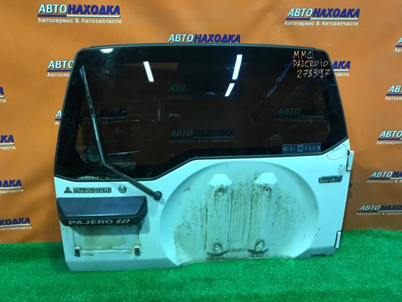 Дверь задняя Mitsubishi Pajero Io H76W 4G93 ВМЯТИНКА