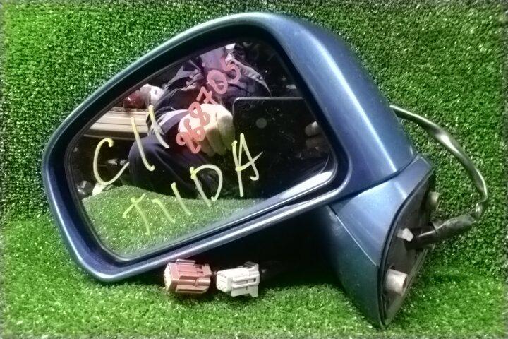 Зеркало Nissan Tiida JC11 MR18DE 10.2005 переднее левое 6+7 КОНТАКТОВ, +КАМЕРА,