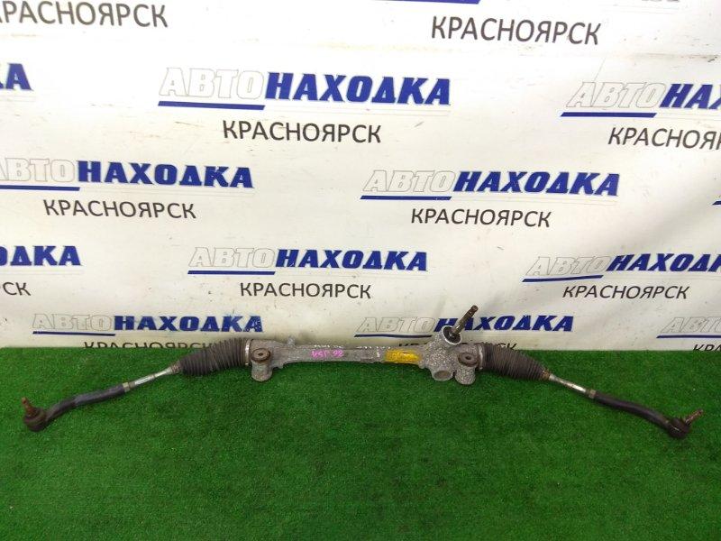 Рейка рулевая Toyota Belta KSP92 1KR-FE 2005 ХТС, сухая, в сборе с тягами и наконечниками