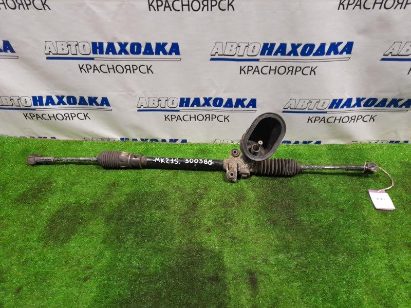 Рейка рулевая Suzuki Palette MK21S K6A 2008 Сухая, в сборе с тягами и наконечниками.