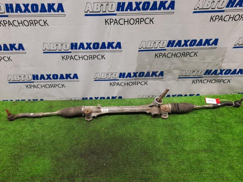 Рейка рулевая Toyota Spade NCP141 1NZ-FE 2012 Сухая, в сборе с тягами и наконечниками.
