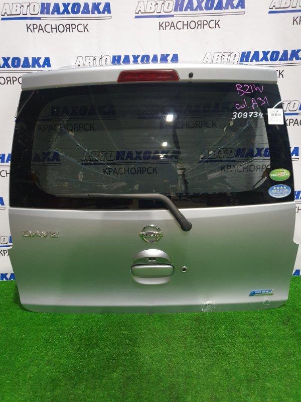 Дверь задняя Nissan Dayz B21W 3B20 2013 задняя в сборе, цвет A31, с камерой з/х, есть вмятинка в