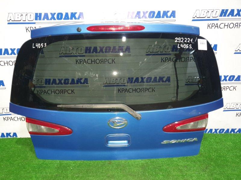 Дверь задняя Daihatsu Sonica L405S KF-DET 2006 задняя в сборе, с вставками (132-51856), потертости на