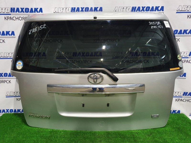 Дверь задняя Toyota Corolla Rumion ZRE152N 2ZR-FE 2007 задняя в сборе, цвет 1F7, есть потертости, дефект