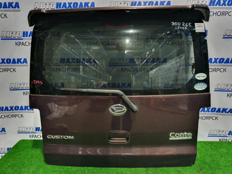 Дверь задняя Daihatsu Move Conte L575S KF 2008 задняя в сборе со спойлером, есть потертости, дефект