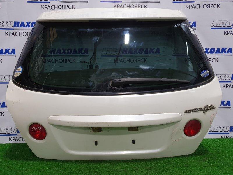 Дверь задняя Toyota Altezza GXE10W 1G-FE 1998 задняя 53-24 в сборе, с вставками (53-24), есть вздутие