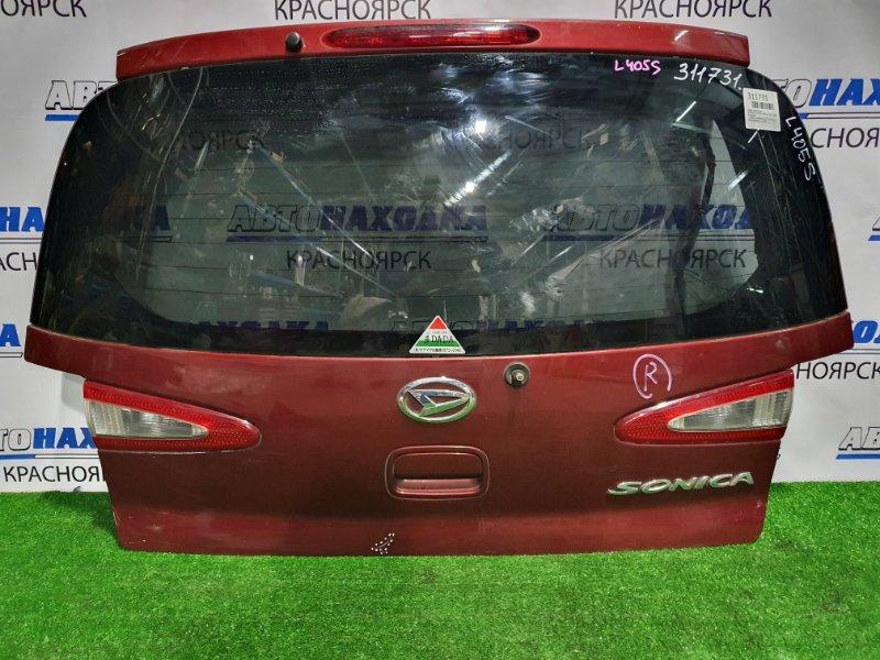 Дверь задняя Daihatsu Sonica L405S KF-DET 2006 задняя в сборе, с вставками (132-51856), есть пара царапин