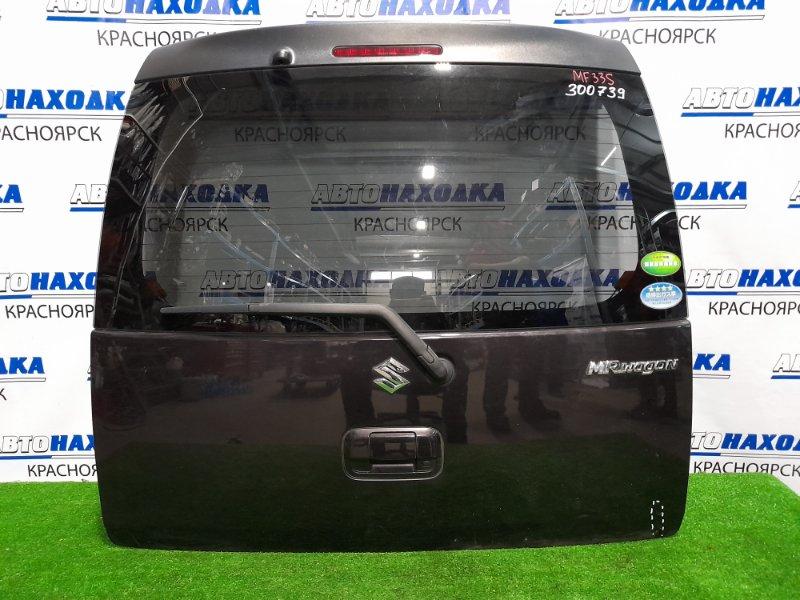 Дверь задняя Suzuki Mr Wagon MF33S R06A 2011 задняя В сборе, есть мелкие царапины и вмятинка (см