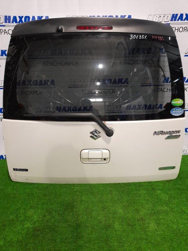 Дверь задняя Suzuki Mr Wagon MF33S R06A 2011 задняя в сборе, есть вмятинка, потертости.