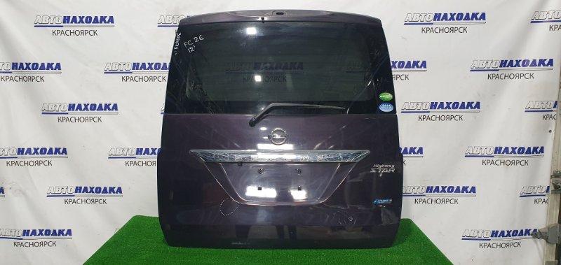 Дверь задняя Nissan Serena FC26 MR20DD 2012 задняя в сборе (кроме стопа), цвет LAE, с камерой з/х