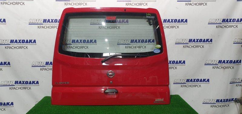 Дверь задняя Nissan Clipper U71V 3G83 2007 задняя В сборе, низкая крыша. Есть потертости, мелкая