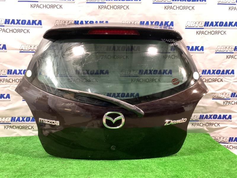 Дверь задняя Mazda Demio DE5FS ZY-VE 2007 задняя в сборе, цвет 28W, потертости на спойлере до