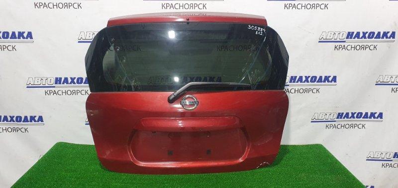 Дверь задняя Nissan Note E12 HR12DE 2012 задняя В сборе, с камерой з/х, замят правый нижний угол,