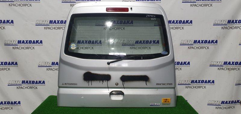 Дверь задняя Mitsubishi Minicab U61V 3G83 1999 задняя в сборе, высокая крыша, вмятина в верхней