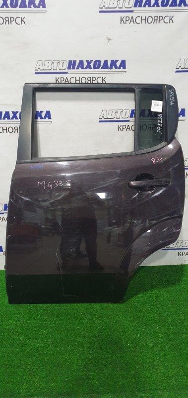Дверь Nissan Moco MG33S R06A 2011 задняя левая Задняя левая в сборе, есть потертости краски